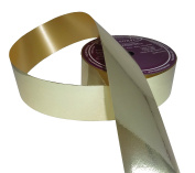ACI PARTY AND SPIRIT ACCESSORIES Metallic Ribbon Roll, Gold, 9, 1 5/16,/36 mm/25 yd.