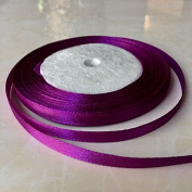 0.6cm One Roll Single Face Satin Ribbon in Violet Price Per Roll/ 25 Yards, Available in 22 Colours
