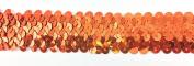 Trimplace Orange 3.2cm Stretch Sequin - 3 Row- 10 Yards