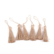 ULTNICE Natural Jute Style Tassel Embellishing Cords for Christmas Decorations and Party