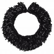 FEESHOW 15 Yards 15CM Women Shiny Sequined Fringes Trim Chain for Dancing Black one size