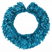 FEESHOW 15 Yards 15CM Women Shiny Sequined Fringes Trim Chain for Dancing Sky Blue one size