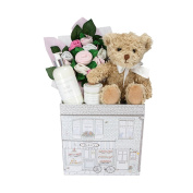 Babyblooms Bertie Bear Welcome Baby Hamper, Pink