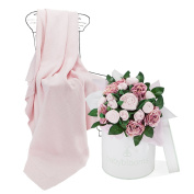Babyblooms Luxury Bouquet and Baby Blanket, Pink