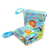 Baby Soft Fabric Activity Colouring Books with Hook and loop,Baby's Cloth Frist Word Books Education Development Toy