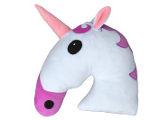 Desire Deluxe Emoti Pillow Unicorn Cushion Happy Face Emoticon Cushion Pillow White Stuffed Plush Soft Face Doll Toy Decor. 12 Month Quality Warranty.