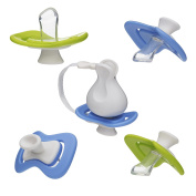 iiamo Peace & String Combo Pack 4 +1 iiamo Peace orthodontic BPA Free Silicone Soothers and iiamo String Soother Chain