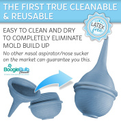 BoogieBulb® - The First True Cleanable & Reusable Baby Nasal Aspirator Syringe - Hospital Medical Grade Nose Suction - No More Wasting Countless Bulbs! - The Ultimate Baby Booger Sucker - BPA FREE - 100% Snot Sucking Satisfaction Guaranteed!