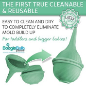 BoogieBulb Baby Nasal Aspirator, 90ml Bundle with Snot Sucker and E-book
