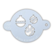 TAP 035 Face Painting Stencil - Christmas Ornaments
