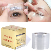 2 Rolls Tattoo Cover, Barrier Film Tattoo Wrap Disposable Hygiene Tattoo Cling Film Make Up Transparent Plastic Roller for One-Way Eyebrow Lips Permanent Makeup Accessories