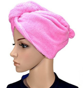 1 x Haarpunzel Turban Hair drying cloth Hand towel Scarf - Shocking Pink, Universalsize