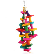Parrot Toy, Colourful Parrot Macaw Cage Chew Toys Pet Bird Conure Swing Scratcher