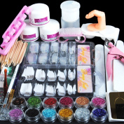 Fashion Gallery Manicure Kit Nail Tips False Nails Nail Art Glitter Decoration