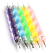 Autek Nail Art Dotting Tools / Spot Swirl - Professional Set with 5 Different Points Double-Ended Swirl Tools