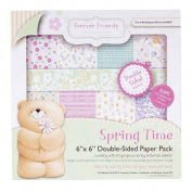 15cm x 15cm Spring Time Forever Friends Double Sided Paper Pack