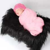 Baby Photo Props Newborn Baby Fur Backdrop Flannel Receiving Blanket Photography Soft Fur Photo Mat
