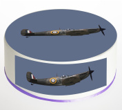 Spitfire Plane Cake Topper. Round Cake Topper. Edible Rice Paper Wafer 19cm cake topper with FREE Banner!
