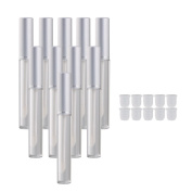 BQLZR Silver 3.5ml Empty Clear Lip Gloss Tube Lip Balm Bottle Makeup Container Pack of 20