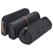 Pencil Case, Fascigirl 3 Pack Pencil Bags Set Soft Pencil Holder Cosmetic Pouch Bag