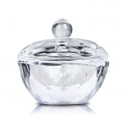 Elite99 Nail Art Acrylic Crystal Glass Lid Bowl Cup Liquid Powder Container Round With Cover