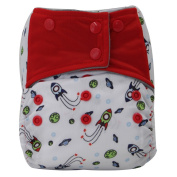 Asenappy Charcoal Bamboo Washable Reusable All-In-One Rocket Cloth Pocket Nappy Sewn Insert