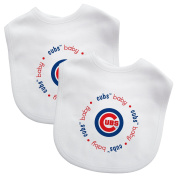 Baby Fanatic White Colour Bibs, Chicago Cubs, 2-Count MLB Infant Bib