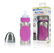 Pacific Baby Hot-Tot Insulated Stainless Steel Infant Baby Bottle with Anti-Colic Nipple BPA Free 210ml