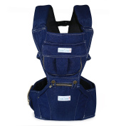 Bundle Tumble . Jeans Hipseat Baby & Toddler Carrier with Adjustable Straps - 3 in 1 Carry Positions -Ergonomic Soft Baby Front & Back Position Carrier for Baby - From 3 - 40 Month