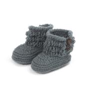 Elee Baby Newborn Handmade Baby Crochet Knitted Prewalker Boots
