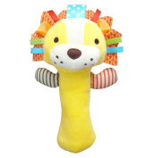 1 PCs 0-3 Year Baby Kids Cute Cartoon Animal Plush Rattles Hand Bells BB Sound Educational Funny Toys Gift for Newborn