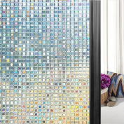 Lemon Cloud 3d No Glue Static Decorative Privacy Mini Mosaic Window Films for Glass