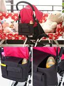 Fengirl Stroller Organiser Bag for Smart Moms - Universal Adjustable Strap - Baby Travel Accessory - Great idea for new parents gift