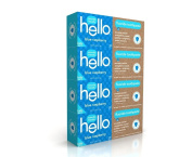 Hello Oral Care Fluoride Toothpaste for Kids Age 2 Above, Blue Raspberry, 4 Count