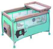 Olmitos foldable baby travel cot and baby changer - Elephant