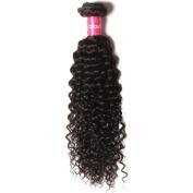 KLAIYI Hair Good Quality Brazilian Curly Hair Weave 1Bundle Virgin Human Hair Extensions Unprocessed Natural Colour 95-100g/pc
