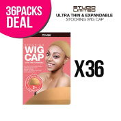 36-PACK ! Studio Limited Perfect Fit Ultra Thin & Expandable Stocking Wig Cap