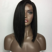 Fantasy Beauty Hair Straight Short Bob Hair Glueless Full Lace Wig Malaysian Virgin Hair Bob Lace Front Human Hair Wigs With Natural Baby Hair