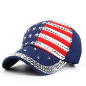 VLUNT Unisex American Flag Plain Baseball Hat USA Stars and Stripes Cap