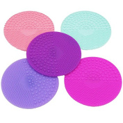 Thinkmax Silicone Gel Makeup Washing Silicone Makeup Brush Cleaner Precision Pore Cleaning Pad Deep Purple