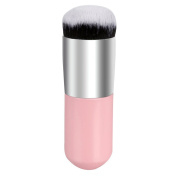 AENMIL Large Round Head Cosmetic Brush Face Makeup Brush Blush Pro BB Cream Concealer Liquid Foundation Tool Wood Handle Rayon for Home Personal Use - Pink
