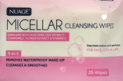 THREE PACKS of Nuage Micellar Cleansing Wipes 25 Wipes Twin Pack