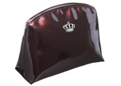 'Ambassador King in High Polish Synthetic Wash Bag Brown