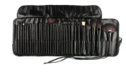 SF-WORLD Professional 32 Pcs Kabuki Make Up Brush Set and Cosmetic Brushes Case-BLACK