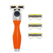 Shave-Lab Twee Wild Orange Lady Shaver with 4x P.L.6 Blades for Body Shaving