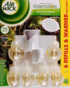 Air Wick American Somoa Natural Essential Scented Oils, 6 Refills and 1 Warmer