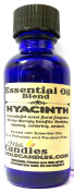 Hyacinth 4oz / 118.29 ml Cobalt Blue Glass Bottle of Premium Grade A Quality Fragrance Oil, Skin Safe Oil - Perfect for Candles, and ALL Bath and Body Products