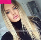 Obzer USA Wig Ombre wig Blonde wigs Straight Hair extensions Synthetic wigs cosplay wigs For Women