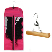 Coosa Hair Hanger, Hair Carrier for Virgin Hair & Clip in Hair Extensions with Protection Case