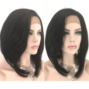 Fennell Long Body Wave Lace Front Wig Synthetic Black Wigs Heat Resistant Fibre Hair For Woman